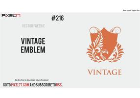 Free Vector of the Day #216: Vintage Emblem