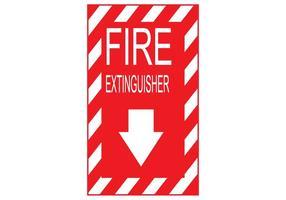 Feuerlöscher Zeichen Vektor