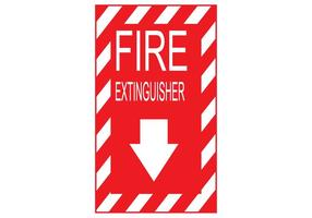Vector de sinal de extintor de incêndio