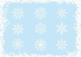 Paquet vectoriel de flocon de neige orné