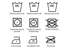 Washing Symbol Vector Pack