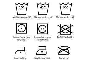 Washing-symbol-vector-pack
