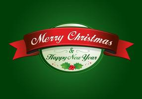 Christmas Vector and New Year Label Vector