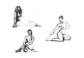 Sketch of Human Figure Vector