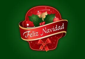 Etiqueta Feliz Navidad Vector