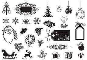 semester och jul vektor pack
