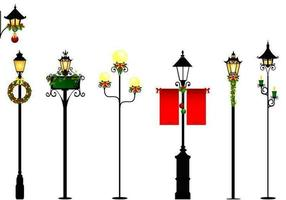 Christmas Street Light Vector Pack