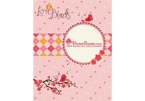 Alla hjärtans dag Vector Love Birds