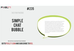 Free Vector of the Day #235: Simple Chat Bubble