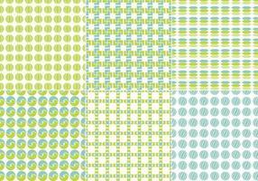 Blaue und grüne nahtlose Vektor Muster Pack