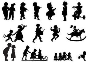 Children's Silhouettes Vector Pack