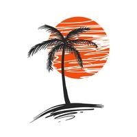 Palm Tree Vector - Vector grátis do dia # 252