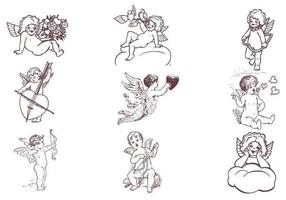 Baby Cupid Vector Pack