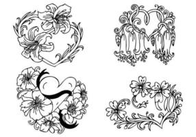 Floral-heart-vector-pack