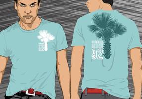 Palmeira Palmera Camiseta Vector