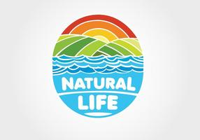 Natural Life Logo Vector