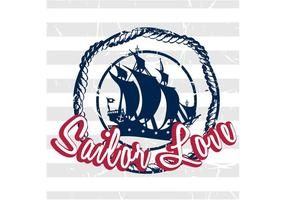 Illustration-sailor-vector-love