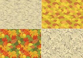 Seamless Leaves Vector Pattern