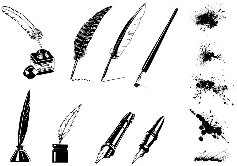 feather pen free vector art - (4337 free downloads)