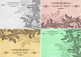 Textured Vintage Background Vector Pack