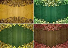 Emerald-vintage-background-vector-pack