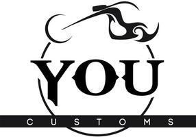 You Customs Riderz Motorcycle Logo Vector