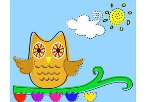 Fat Owl Vector