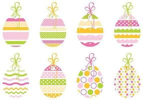 Decoratief Easter Egg Tag Vector Pack