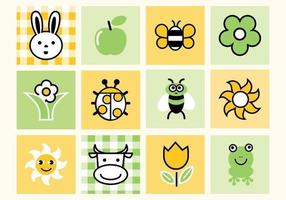 Cute Spring Vector Pack