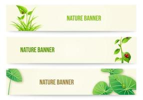 Nature-banner-vector-pack