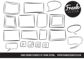 Hand Drawn Frame Vectors and Speech Bubble Vectors