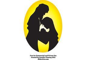 Silhouette de silhouette de la Nativité de Jen