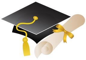 Vecteur de casquette d'obtention du diplôme