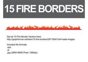 Fire-border-vectors