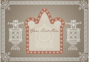 Ornament Achtergrond Vector 7
