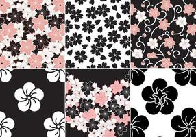 Sakura Flower Vector Pattern Pack