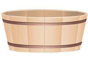 Wooden Bucket Vector