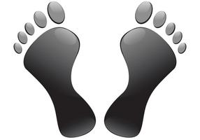 Footprints-vector