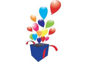 Box of Balloons Vector