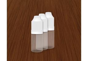 Plastic Dropper Bottle Vector 10ml