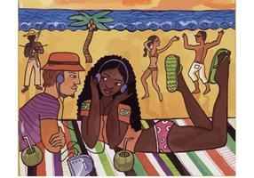 Karibischer Vektor-Rhythmus