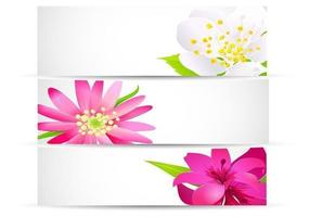 Bright-floral-banner-vector-pack