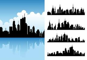 Pack Vector Vector City Skyline