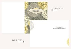 Floral Mother's Day Card Vector Template