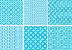 Circular Blue Pattern Vector Pack