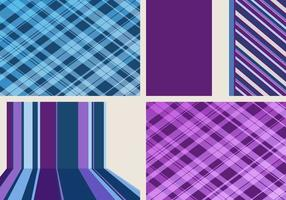 Striped and Plaid Background Vector Pack