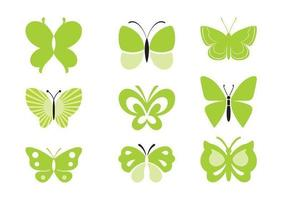 Green-butterfly-vector-pack