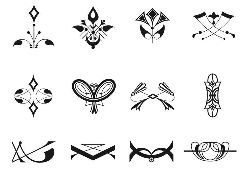 Free Art Deco Geometric Vector Patterns - Download Free Vector Art ...