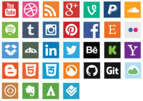 Platte sociale Media Icon Vector Pack