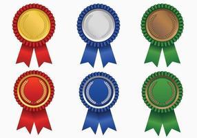 Premio de color brillante paquete de vectores de la cinta
